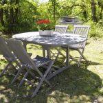 villasoccitanes cayrous le jardin et le barbecue