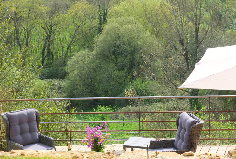 villasoccitanes les Buis vue de la terrasse plein Sud