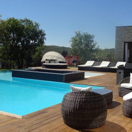villasoccitanes jardin piscine Dal Cayrou
