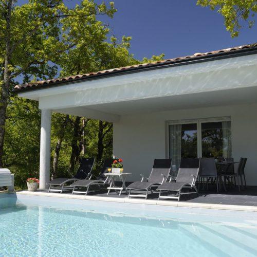 villasoccitanes piscine terrasse Les Cayrous